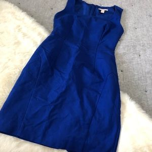 Banana republic blue career wear fitted dress sz6P